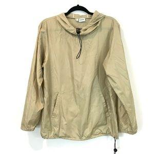 Vintage Esprit M Beige Pullover Hooded Drawstring